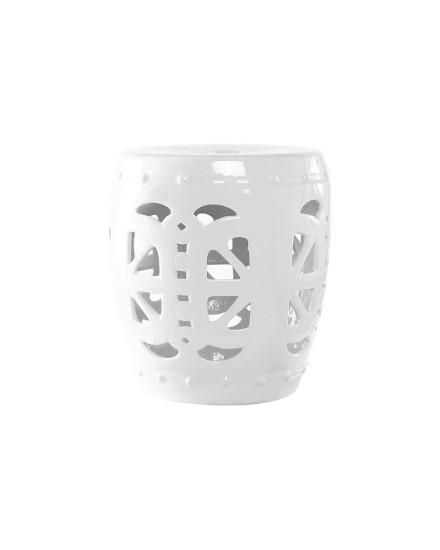 White Ceramic Side Table