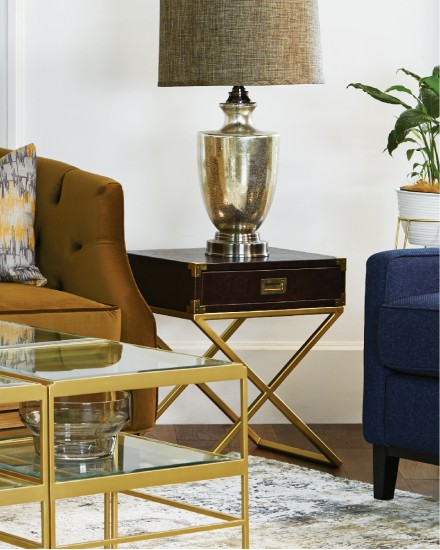 DAYTON SIDE TABLE LEATHER
