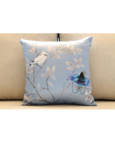 Blue Cendrawasih Cushion (M)
