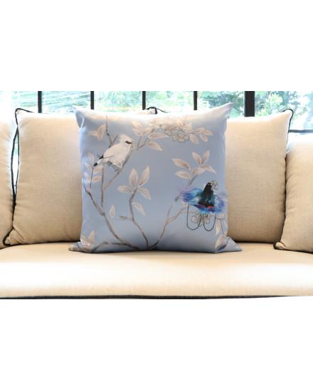 Blue Cendrawasih Cushion (L)