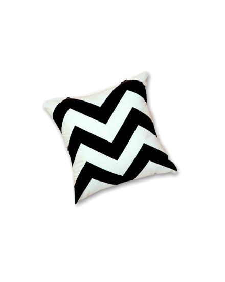 Toss Pillow Herringbone Sterling Black