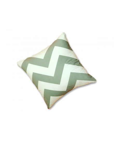 Toss Pillow Herringbone Sterling Grey