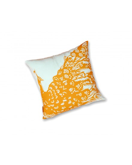 Toss Pillow Peacock Orange