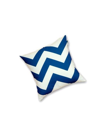 Toss Pillow Herringbone Sterling Blue
