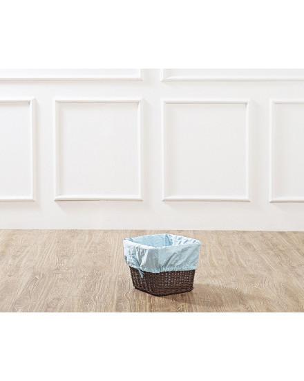 Brown Leyla Rattan Basket with Blue Liner
