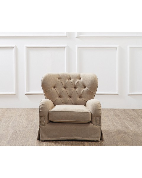 PETITE SILVIA TUFTED ACCENT CHAIR