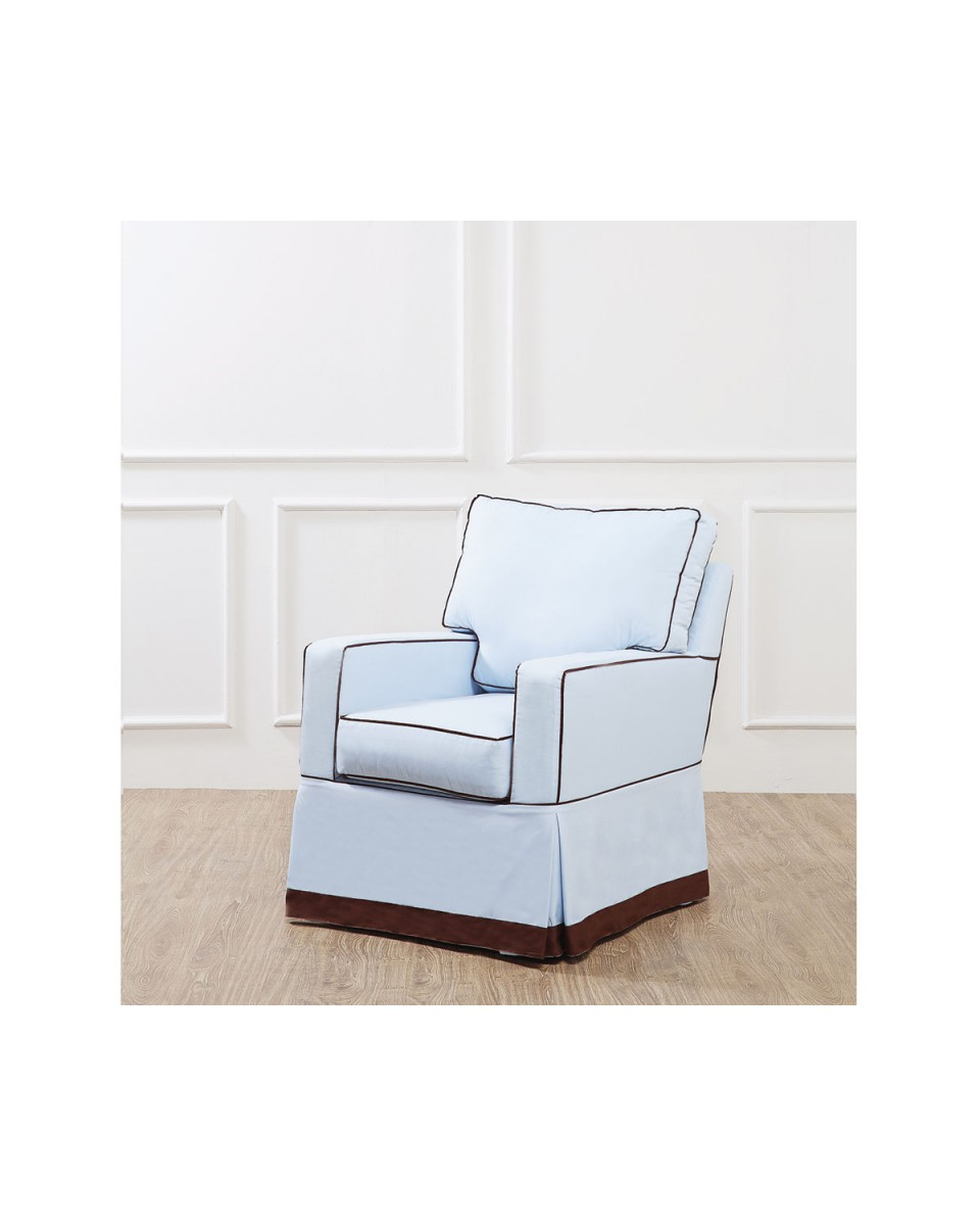 ... DARREN ROCKING CHAIR BODY BLUE WITH PIPING BROWN ...