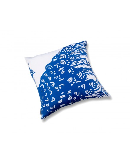 Toss Pillow Peacock Blue