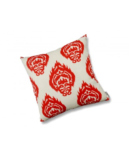 Toss Pillow Ikat Coral Orange