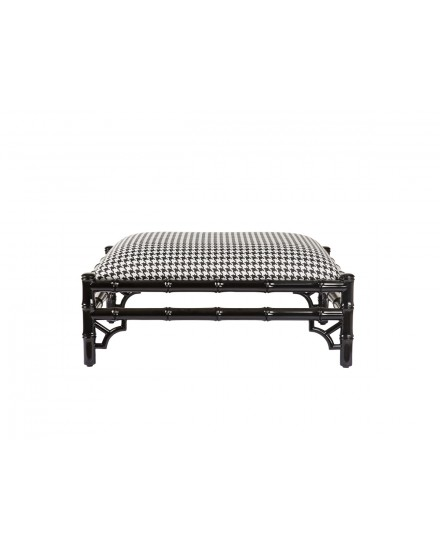 Avery Ottoman in Houndstooth Shadow