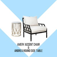 Indulge your eye with this beautiful Avery accent chair, its unique bamboo-like design will be a conversation topic on it's own. . But when it is paired with the beautiful brass based and natural marble top of Andrea round side table, the combination of these two will brighten up the room. . This combination will be perfect for your home, apartment, or office corner spot. . For more information, you can visit our website at www.arborandtroy.com or contact our whatsapp business on 0813 8198 0512. . #comfortwitharborandtroy #arborandtroy #newnormal #furniture