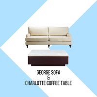The uniqueness and beauty of George sofa with it's brass wheels on ots front legs will accentuate the elegance of your living area. . Combine this beautiful sofa with the beautiful Charlotte coffee table, its natural marble top with brass accent will tie in with the brass wheels of George. These two will compliment each other and it's perfect choice for your room. . For more information, you can visit our website at www.arborandtroy.com or contact our whatsapp business on 0813 8198 0512. . #comfortwitharborandtroy #arborandtroy #newnormal #furniture