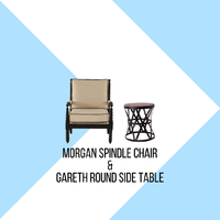 Feel the luxury and uniqueness of our Morgan Spindle chair, designed with distinguished bead style detail will enhance the luxurious feel of your living area. When the beautiful Morgan Spindle is combined with our rustic wooden and metal Gareth Round side table, the two will compliment each other and not only will it enhance the luxurious feel of your room, it will also brings warmth to the room. . For more information, you can visit our website at www.arborandtroy.com or contact our whatsapp business on 0813 8198 0512. . #comfortwitharborandtroy #arborandtroy #newnormal #furniture