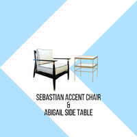 Feast your eyes with the beauty and sophistication of our Sebastian accent chair, the everlasting design and use of brass details will be the perfect choice for your desired look.  When Sebastian is paired with the beautiful brass and glass construction of our Abigail side table, it will brighten up your room and enhance its elegant feel. . For more information, you can visit our website at www.arborandtroy.com or contact our whatsapp business on 0813 8198 0512. .  #comfortwitharborandtroy #arborandtroy #newnormal #furniture